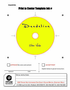 Dandelion CD Face